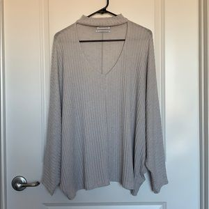 Sweater with neck line design